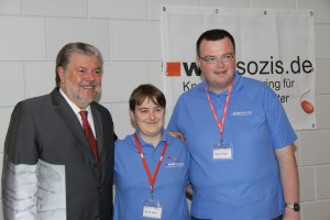 Infostand auf dem LPT der SPD RLP in Ida-Oberstein 2010 - Kurt Beck, Anja Hagge (damals Wüste), Markus Hagge